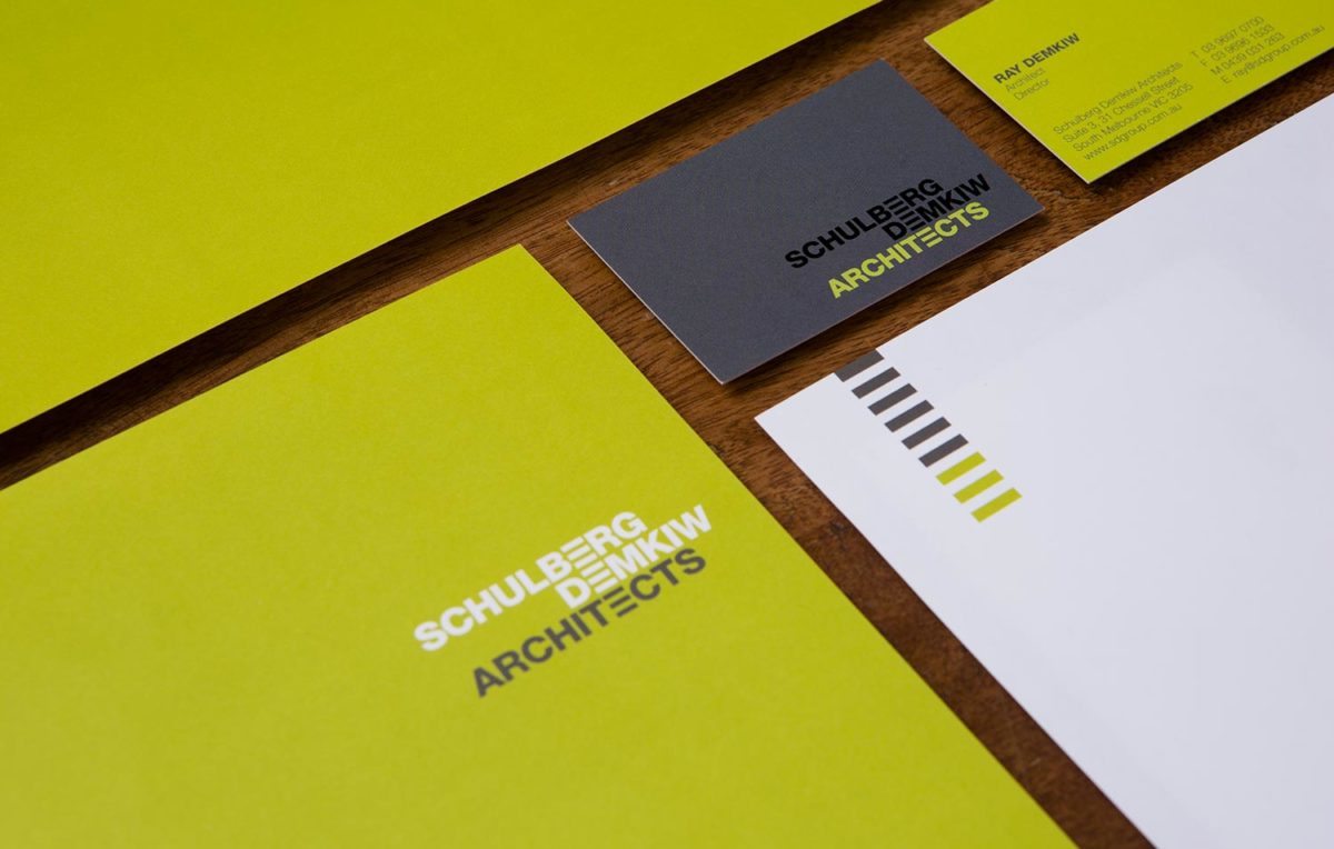 A re-design of the brand identy for Schulbery Demkiw Architects