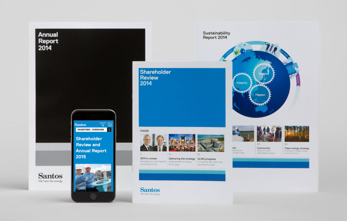 An image of the Santos Annual Report suite