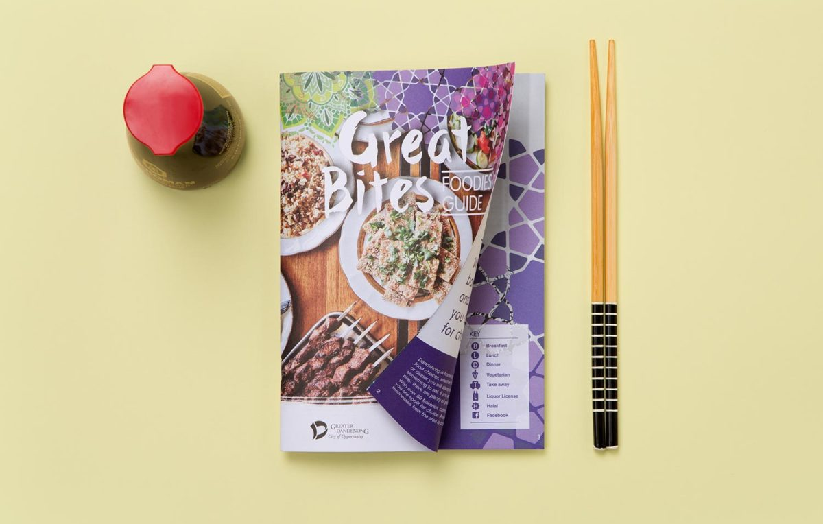 this is an image of the cover of the great bites food guide
