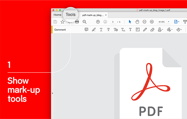 an image showing PDF mark-up tools